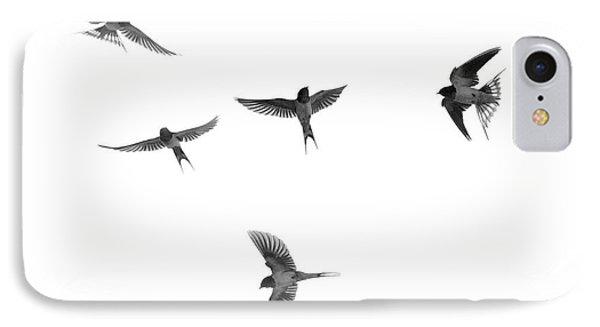 Barn Swallow Acrobatics In The Sky IPhone Case by Dan Friend