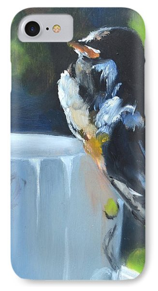 Barn Swallow On Teacup Oil Painting IPhone Case