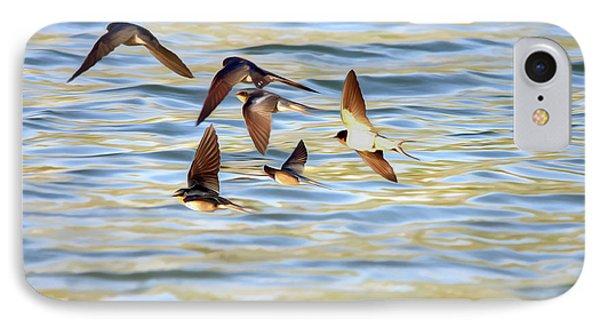 Barn Swallows In Flight - Digitalart IPhone Case by Roy Williams