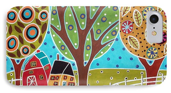 Barn Trees And Garden IPhone Case by Karla Gerard