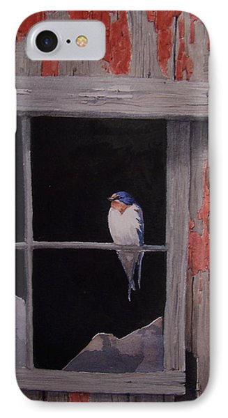 Barn Window Barn Swallow IPhone Case