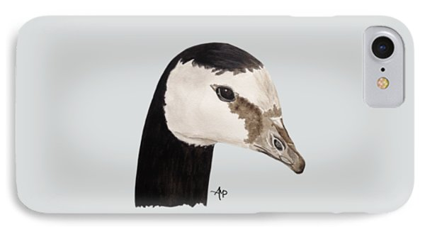 Barnacle Goose Portrait IPhone Case by Angeles M Pomata