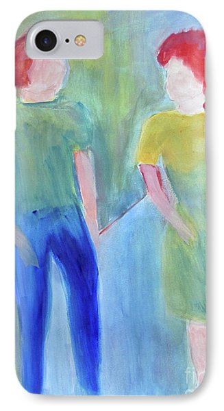 IPhone Case featuring the painting Barney And Elizabeth by Sandy McIntire