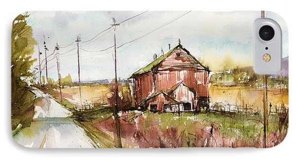 Barns And Electric Poles, Sunday Drive IPhone Case by Judith Levins