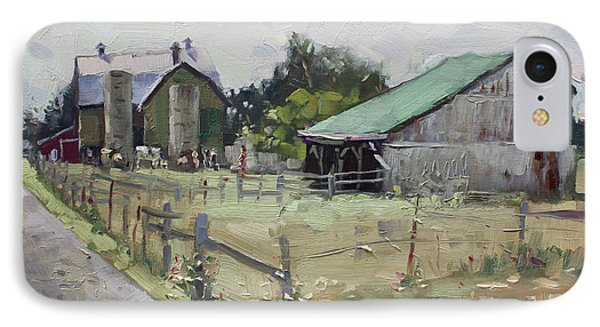 Barns And Old Shack In Norval IPhone Case by Ylli Haruni