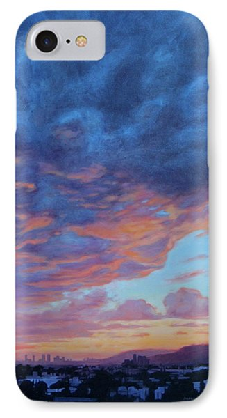 IPhone Case featuring the painting Barnsdall Hill by Andrew Danielsen