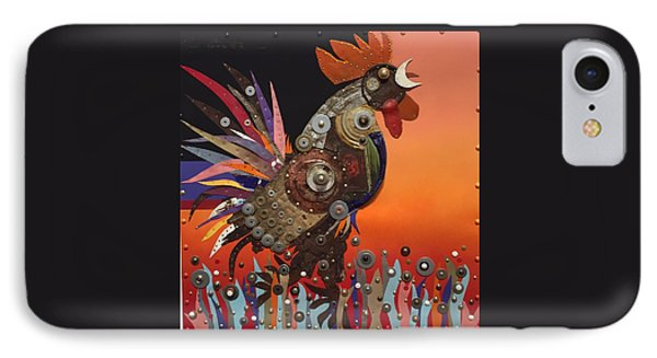 IPhone Case featuring the painting Barnyard Gladiator by Bob Coonts