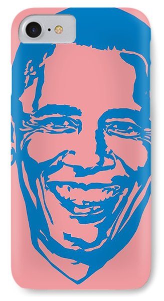 Barrack Obama Silhouette Art Image IPhone Case by Andi Asmoro