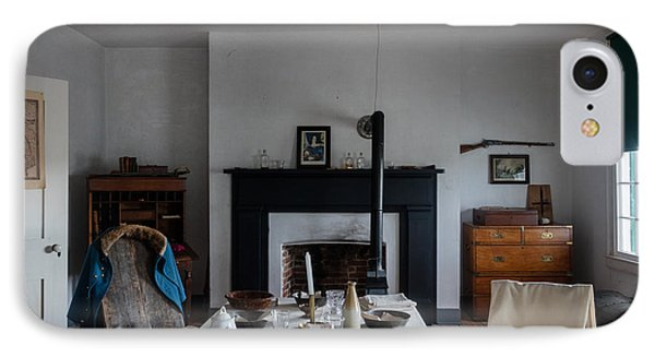 IPhone Case featuring the photograph Barracks Interior At Fort Laramie National Historic Site In Goshen County by Carol M Highsmith