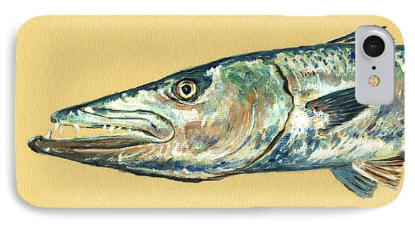 Barracuda Fish IPhone Case by Juan  Bosco
