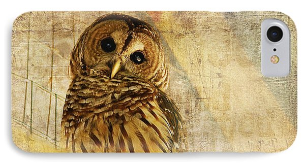 IPhone Case featuring the photograph Barred Owl by Lois Bryan