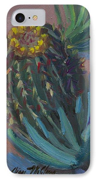 Barrel Cactus In Bloom - Boyce Thompson Arboretum IPhone Case