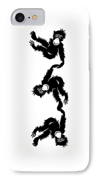 Barrel Full Of Monkeys T-shirt IPhone Case by Edward Fielding