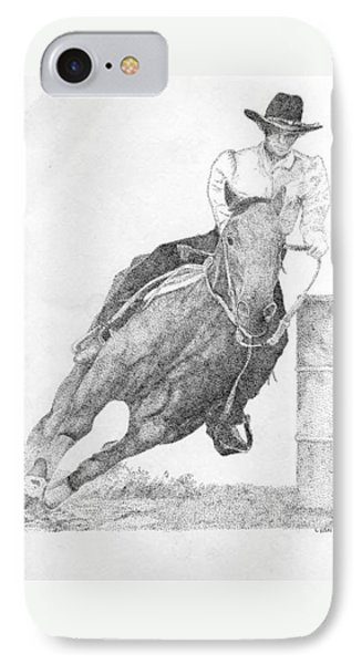 Barrel Racer IPhone Case by Lucien Van Oosten
