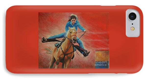 Barrel Racing IPhone Case by Jeanette French