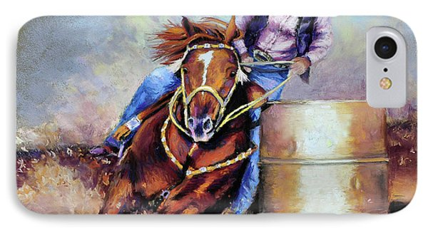 Barrel Rider Phone Case by Susan Jenkins