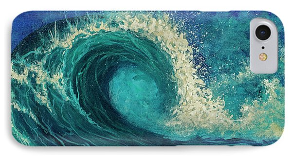 IPhone Case featuring the painting Barrel Wave by Darice Machel McGuire
