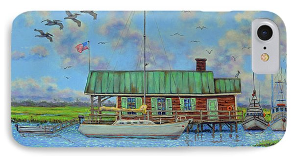 Barriar Island Boathouse IPhone Case by Dwain Ray