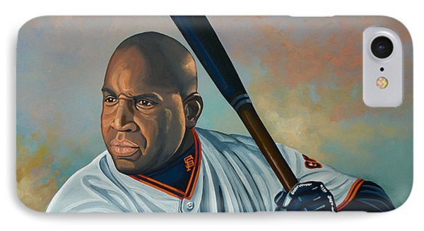 Barry Bonds IPhone Case by Paul Meijering