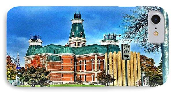Bartholomew County Courthouse Columbus Indiana  IPhone Case by Scott D Van Osdol