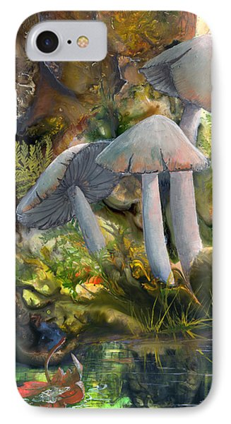 IPhone Case featuring the painting Base Camp by Sherry Shipley