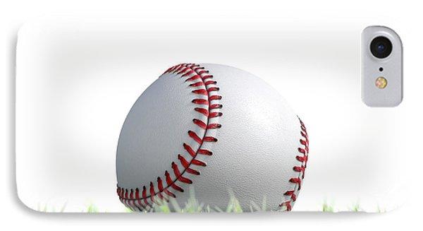 Baseball Ball Resting On Grass IPhone Case by Allan Swart