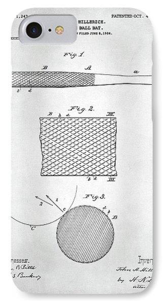 Baseball Bat Patent IPhone 7 Case