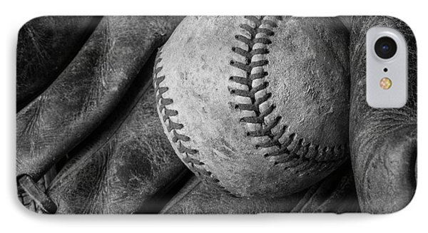 Baseball Black And White IPhone Case by Garry Gay
