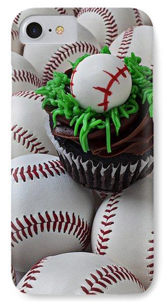 Baseball Cupcake Phone Case by Garry Gay