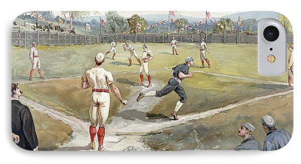 Baseball Game IPhone Case by Unknown