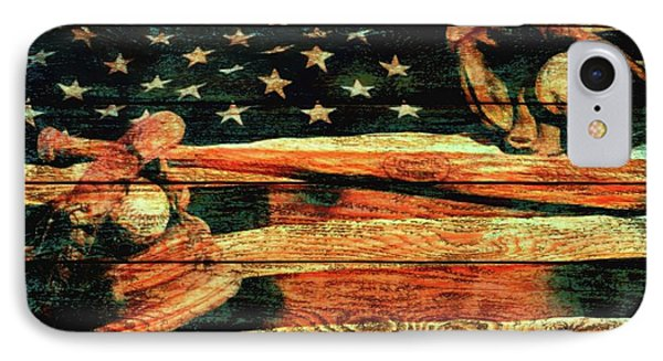 Baseball Grunge Barn Door IPhone Case by Dan Sproul