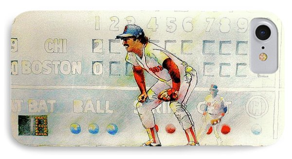Jerry Remy At 2nd Base IPhone Case by David Kelley