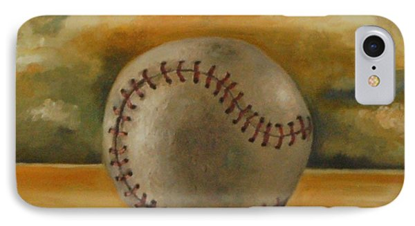 Baseball Phone Case by Leah Saulnier The Painting Maniac