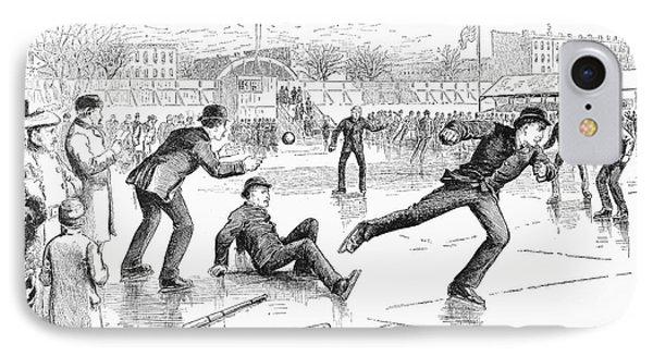 Baseball On Ice, 1884 Phone Case by Granger