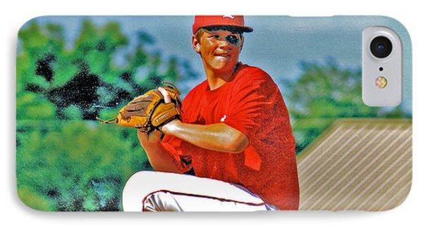 Baseball Pitcher Phone Case by Marilyn Holkham