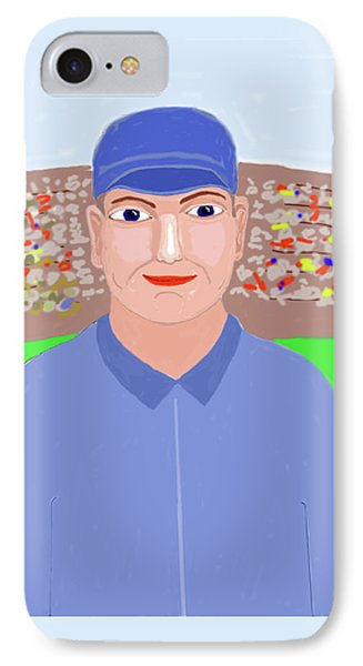 Baseball Star Portrait Phone Case by Fred Jinkins