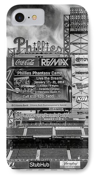 Baseball Time In Philly - Bw IPhone Case