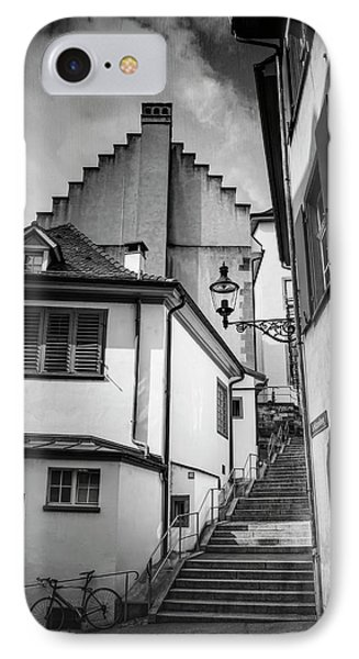 Basel Old Town In Black And White  IPhone Case