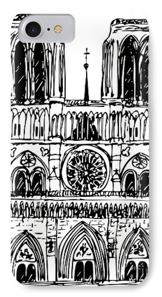 basilica Notre Dame Phone Case by Michal Boubin