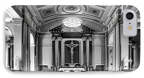 IPhone Case featuring the photograph Basilica Of Saint Louis King - Black And White by Nikolyn McDonald