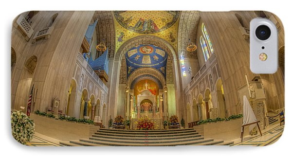 Basilica Of The National Shrine Main Altar IPhone Case by Susan Candelario