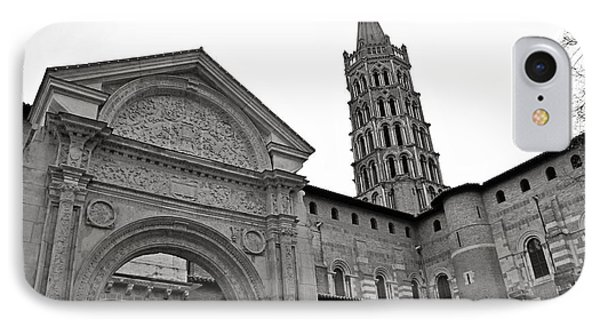 IPhone Case featuring the photograph Basilique St Sernin In Toulouse by Cendrine Marrouat