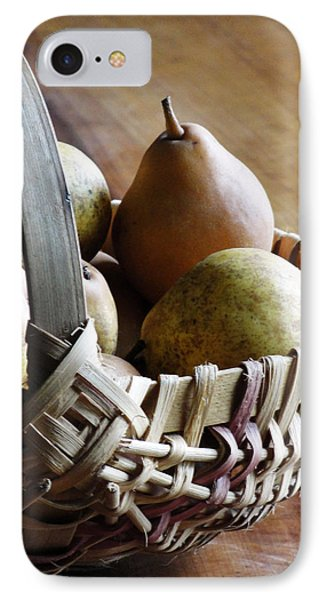 IPhone Case featuring the digital art Basket And Pears by Jana Russon
