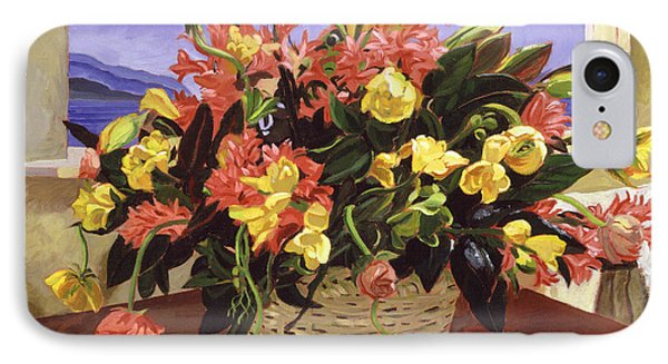 Basket Of Flowers IPhone Case by David Lloyd Glover