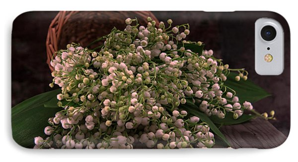 IPhone Case featuring the photograph Basket Of Fresh Lily Of The Valley Flowers by Jaroslaw Blaminsky