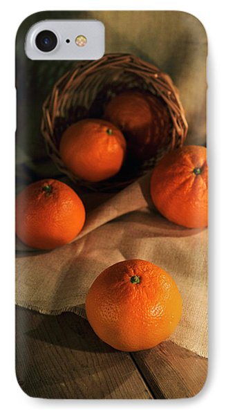 IPhone Case featuring the photograph Basket Of Fresh Tangerines by Jaroslaw Blaminsky