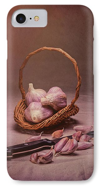 Basket Of Garlic Still Life IPhone Case