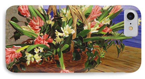 Basket Of Hyacinths IPhone Case by David Lloyd Glover
