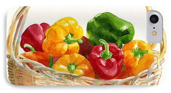 Basket Of Peppers Square Design IPhone Case