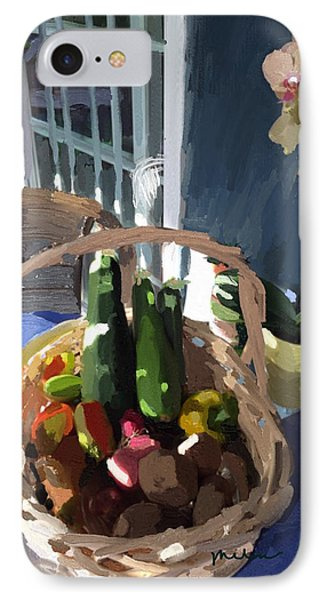 Basket Of Veggies And Orchid IPhone Case